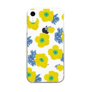黄色い花 Clear smartphone cases