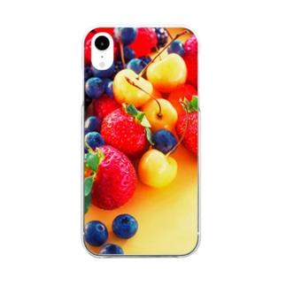 はじけるベリーBerryz Clear smartphone cases
