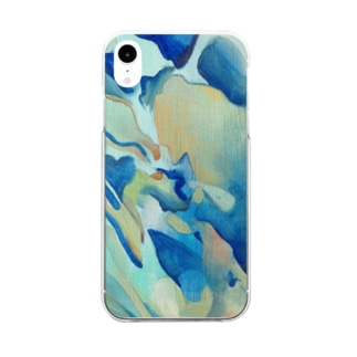 Blue wave Clear smartphone cases