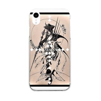 干支丑《Luchador de las sombras》 Clear smartphone cases