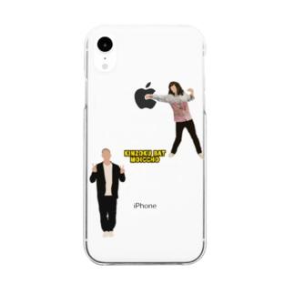 りんごを潰す金属バット Clear smartphone cases