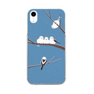 シマエナガ Clear smartphone cases