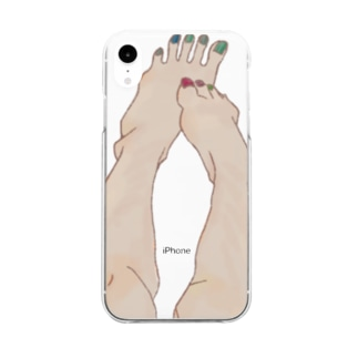 SOMEONE S FOOT  Clear smartphone cases
