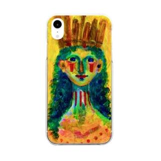 太陽祭に参加する人 Clear smartphone cases