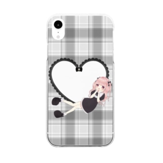【iPhoneXR専用】推しが挟めるiPhoneケース Clear smartphone cases