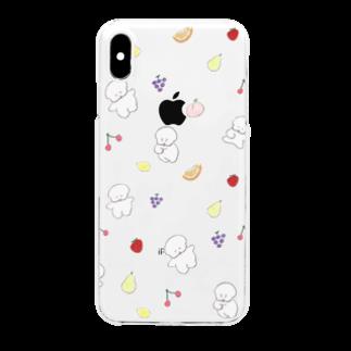 ワヌ山のフルーツもりもりワヌ山 Clear smartphone cases