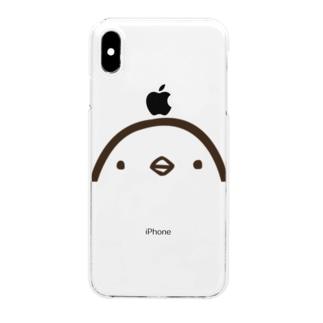 ひよこのもり工房のひよこさん(顔・クリア・iphoneXR/XR Max) Clear smartphone cases
