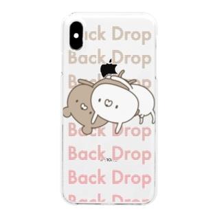 ウサギVSクマ Clear smartphone cases
