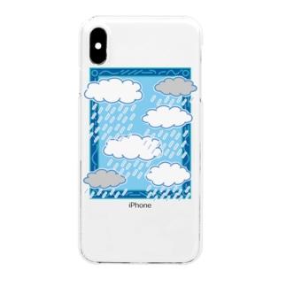 がくのなかの世界 あめ Clear smartphone cases