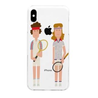 McEnroe & Borg Clear smartphone cases