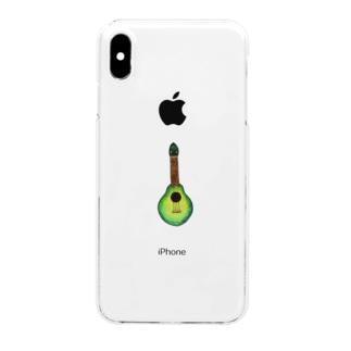 リアルアボカドウクレレ Clear smartphone cases