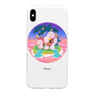 Chill Yeti&Dog Clear smartphone cases