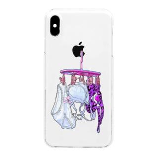 エース明_003 Clear smartphone cases