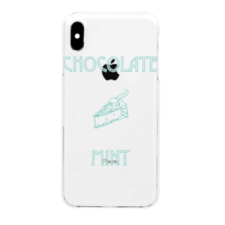 IN-SHOCKのCHOCOLATE MINT Clear smartphone cases