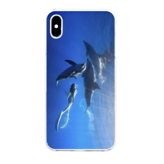 Ayano & Dolphin iPhone XS Max  Clear smartphone cases