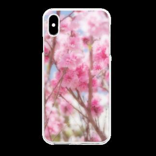 akane_artの八重桜 Clear smartphone cases