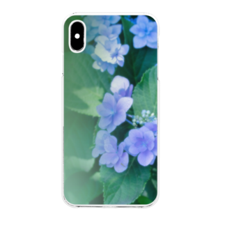 akane_artのアジサイ(緑) Clear smartphone cases