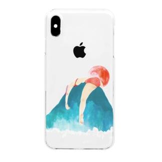 真夜中の手がみのbikini mountain clear Clear smartphone cases