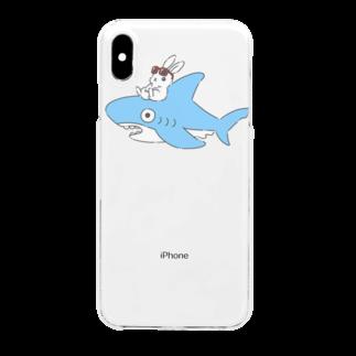どんぐり商店のいなばのしろうさぎチャン Clear smartphone cases