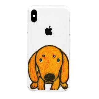 きゃべつのしんください。(文字無し) Clear smartphone cases