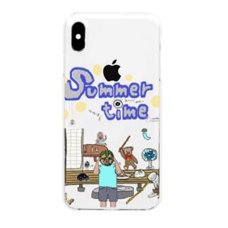 uwotomoのsummer time Clear smartphone cases