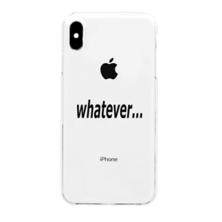 Patmaru Worksのwhatever... どうでもいい… Clear smartphone cases