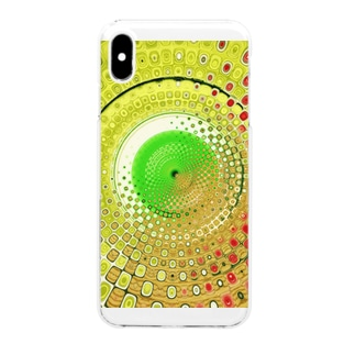 Yellow Greenの世界 in kaleidoscope Clear smartphone cases