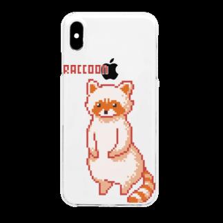 m :)のアライグマ Clear smartphone cases