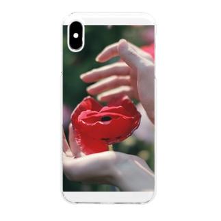 シャーレーポピー Clear smartphone cases