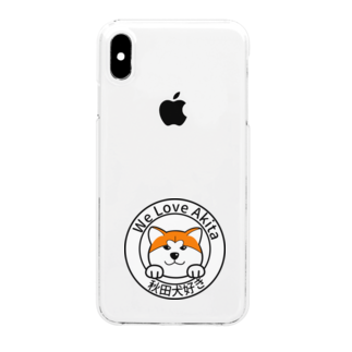 JapaneseRubberStampsの秋田犬好き Clear smartphone cases