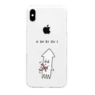 PokuStarのタコの踊り食い Clear smartphone cases