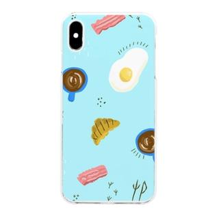 ゆるゆる朝ごはん Clear smartphone cases