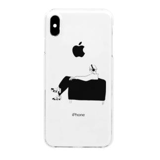 chamiのイラスト「サウンドボーイ」 Clear smartphone cases