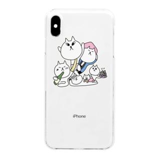宇出津ねこ〜あばれ祭り〜 Clear smartphone cases