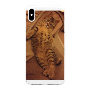 Elegant Cat -Original Version- Clear smartphone cases