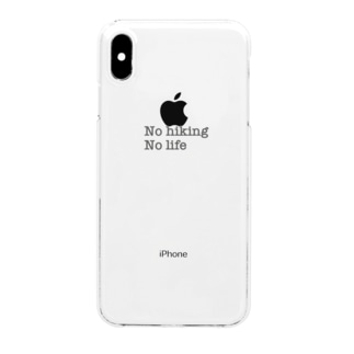 No hiking No life Clear smartphone cases