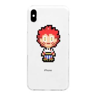 ヒノマル ドット絵デザイン Clear smartphone cases