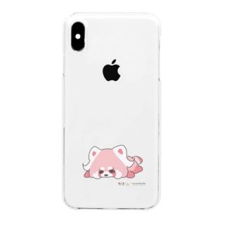 ☆(限定品)☆虹くまだらけ☆たれ もも☆Aバージョン☆ Clear smartphone cases