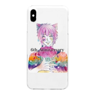 PC国6周年記念ポコ Clear smartphone cases