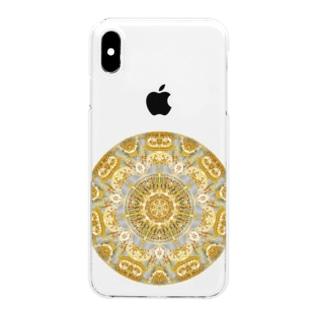 黄金色の曼荼羅 Clear smartphone cases