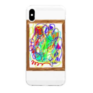Isariショップの見る人によって見えてくるものが違う絵 Clear smartphone cases