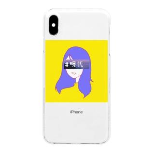 #現代 初イラスト Clear smartphone cases