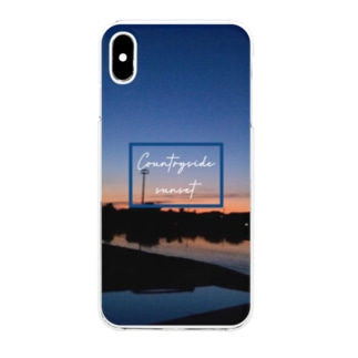 Countryside sunset 〜田舎の夕焼け〜 Clear smartphone cases