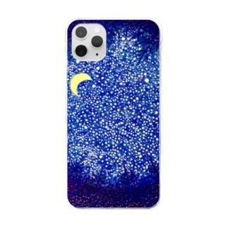 おやすみの森 Clear smartphone cases