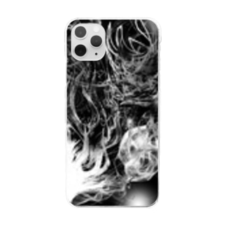 Black drawing Clear smartphone cases