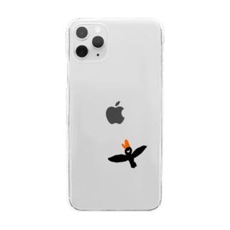 Mr. black bird Clear smartphone cases