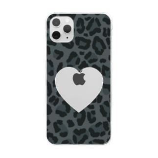 黒推し カスタマイズできる Clear smartphone cases