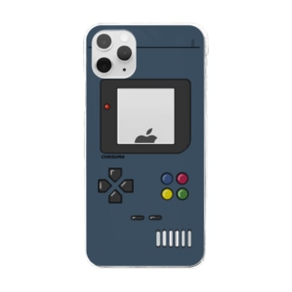 ChRiSUMA GAME ADDICTION navy blue Clear smartphone cases