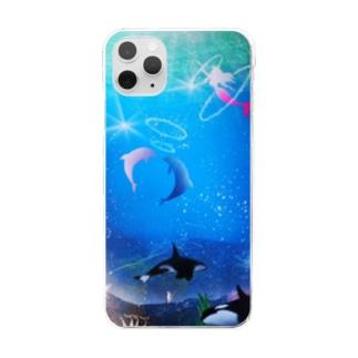 スプレーアート、バブルリング Clear smartphone cases