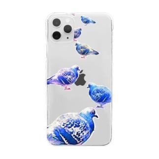 鳩-HATO- Clear smartphone cases